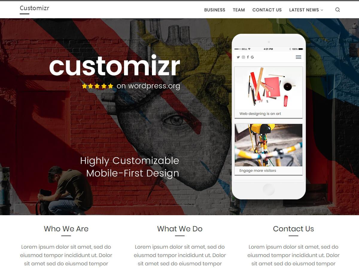 Customizr ist ein perfekt responsives Theme